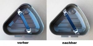 Überarbeitung der Ösen im Werkzeugkastendeckel SR2