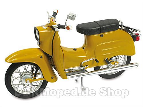 simson schwalbe kr51 1 schuco modell 1 10 metall gelb ebay. Black Bedroom Furniture Sets. Home Design Ideas