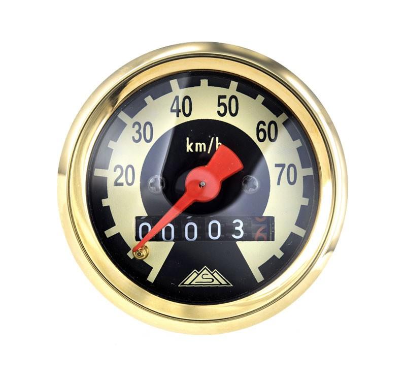 tachometer 70 km h echtgold limitiert schwalbe online shop. Black Bedroom Furniture Sets. Home Design Ideas